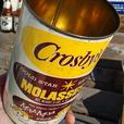 Vintage 1950's Crosby's Gold Star Brand Molasses Can